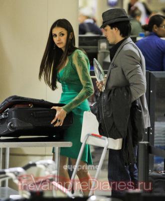 Йен и Нина в аэропорту LAX [11 января]
