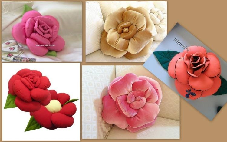 Подушки своими руками фото розы