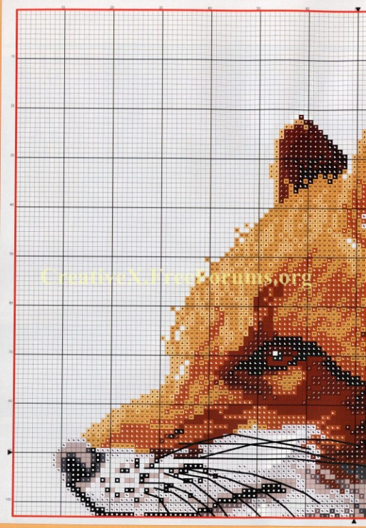 Схема вышивки лисица