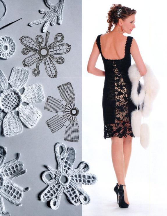 Вязаные платья и сарафаны крючком - это зачастую очень нарядные, ажурные и Схема вязания платья крючком.. вязяные Что