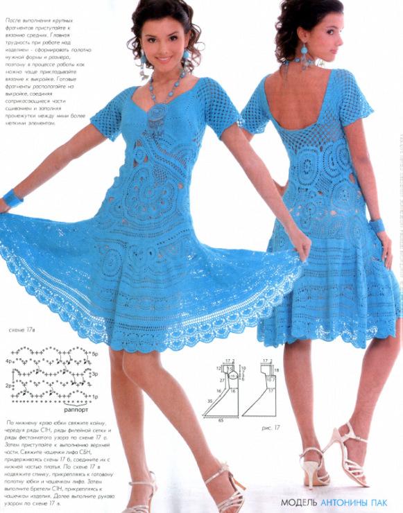 Вязаные крючком платья для женщин модные