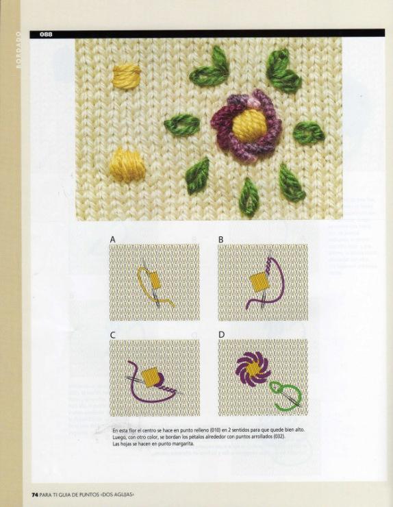 Вышивка по трикотажному полотну цветы 99