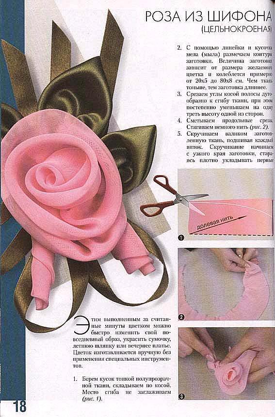 Розы из ткани своим руками