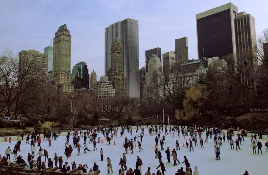 Рождество в Нью-Йорке. Каток в Центральном парке.