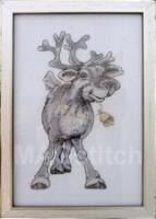 """Схема для вышивки  """"Рождественский олень """" Макошь 001-1001 набор для вышивания."""