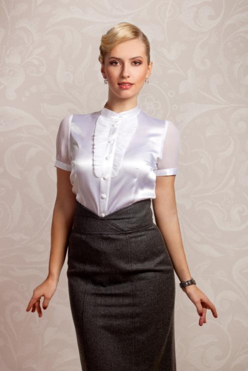 Фасоны блузок из шелка