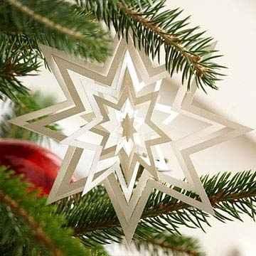 Альбома снежинка в форме звезды