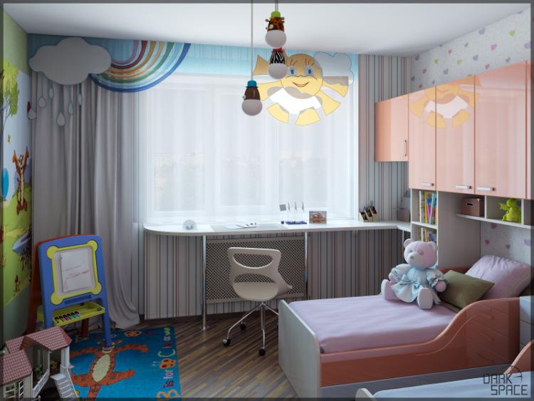 Дизайны детских комнат 14 кв метров фото