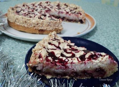 Пирог вишня под снегом рецепт