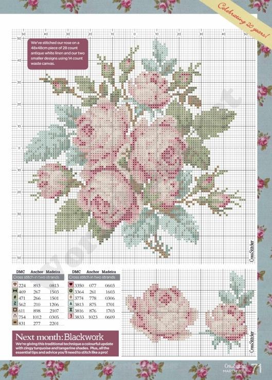 Схемы для вышивки - цветы