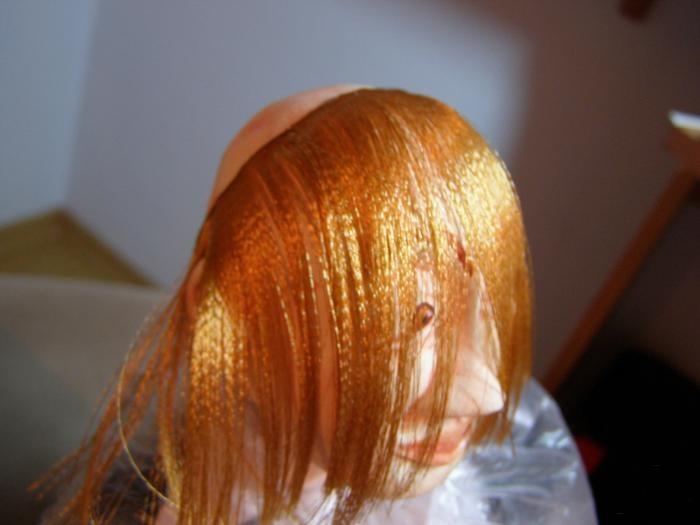 Как из атласных лент сделать волосы кукле из 277