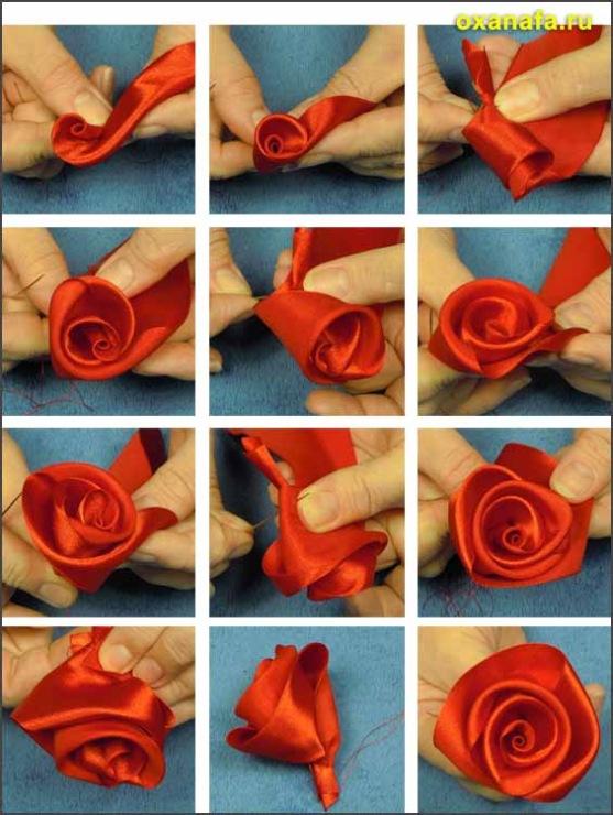Мебель для дома и офиса. розы из лент.