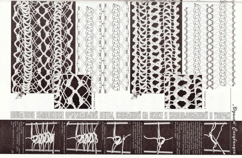 Другие виды рукоделия. Вязание на вилке 70