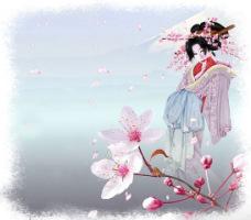 И в лепестках как память нашей встречи Таиться юности любовь.  А ветки сакуры в цвету.  Для нас ханами дарит.