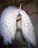 1. Белые павлины.Вышивка.