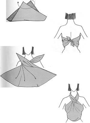 2. Чтобы за 5 минут сделать Восточные шаровары из Вам потребуется два одинаковых палантина одного цвета.
