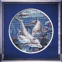 вышивка крестом схемы дельфины.