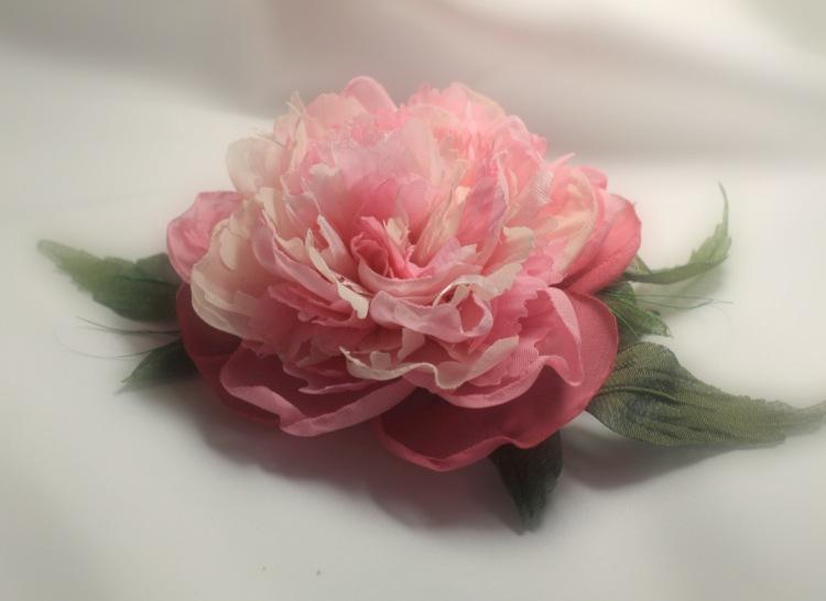 Цветы из шифона мастер