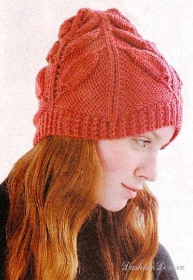 На. сайте Дашкин Дом. спицами. берет. опубликована хорошая подборка по вязаным шапкам, все модели даны с описанием