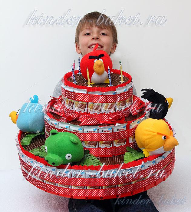 Торт из конфет своими руками для мальчиков фото