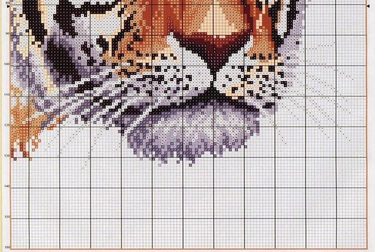 Схемы вышивок крестиком львы 154