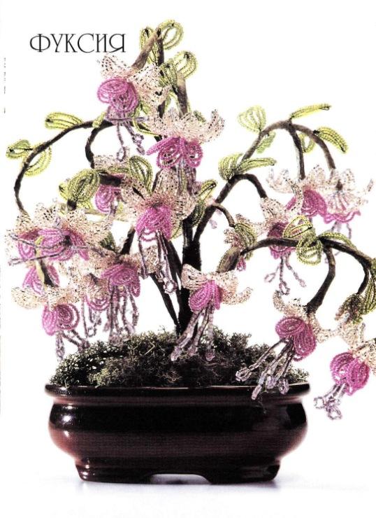 Деревья и цветы из бисера своими руками