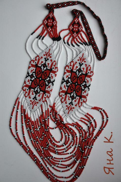 Бусы из бисера своими руками в украинском стиле